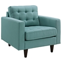 Enfield Light Blue Modern Lounge Chair