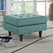 Enfield Light Blue Contemporary Ottoman