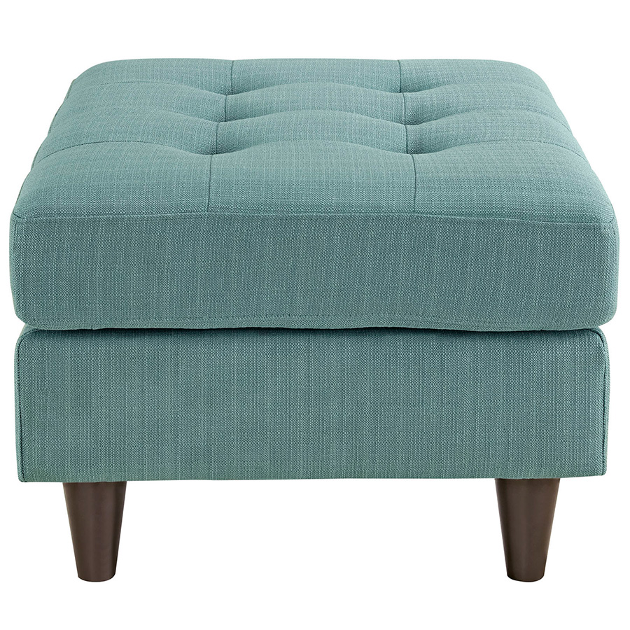 light blue ottoman. Enfield Light Blue Modern Ottoman - Side View L