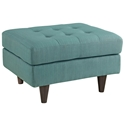 Enfield Light Blue Modern Ottoman