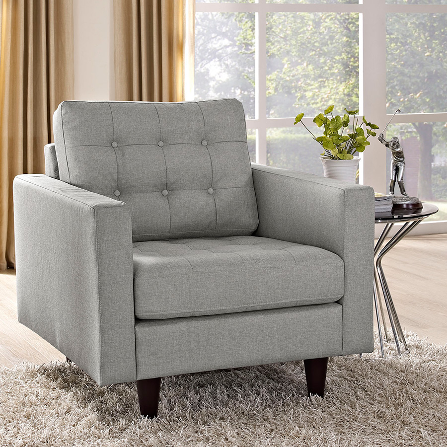 ... Enfield Light Gray Contemporary Lounge Chair