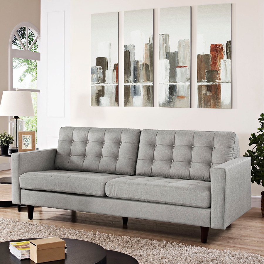 Modern Sofas | Enfield Light Gray Sofa | Eurway Modern