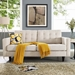 Enfield Contemporary Tufted Beige Fabric Loveseat