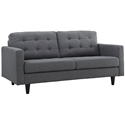 Enfield Modern Classic Gray Fabric Loveseat
