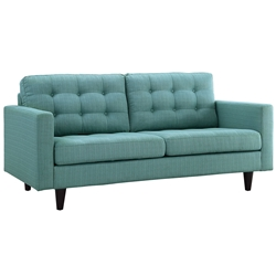 Enfield Modern Classic Light Blue Fabric Loveseat