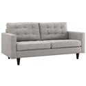 Enfield Modern Classic Light Gray Fabric Loveseat