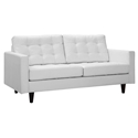 Enfield Modern Classic White Bonded Leather Loveseat