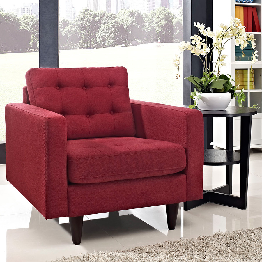 modern lounge chairs  enfield red chair  eurway -  enfield red contemporary lounge chair