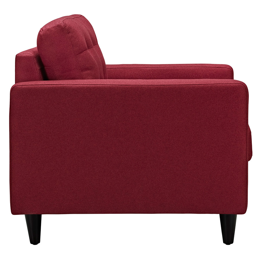 Red Modern Chairs -  enfield red modern lounge chair side view