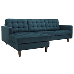 Enfield Modern Azure Sofa w/ Left Facing Chaise