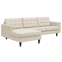 Enfield Modern Beige Sofa w/ Left Facing Chaise