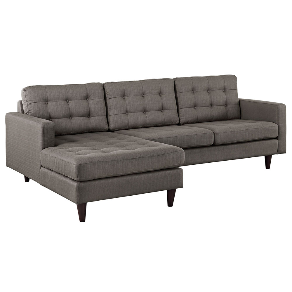 Enfield Modern Granite Sofa w/ Left Facing Chaise