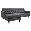 Enfield Modern Gray Sofa w/ Left Facing Chaise