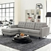 Enfield Modern Light Gray Tufted Sofa with Left Facing Chaise Lounge