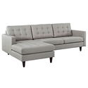 Enfield Modern Light Gray Sofa w/ Left Facing Chaise
