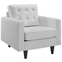 Enfield White Leather Modern Lounge Chair