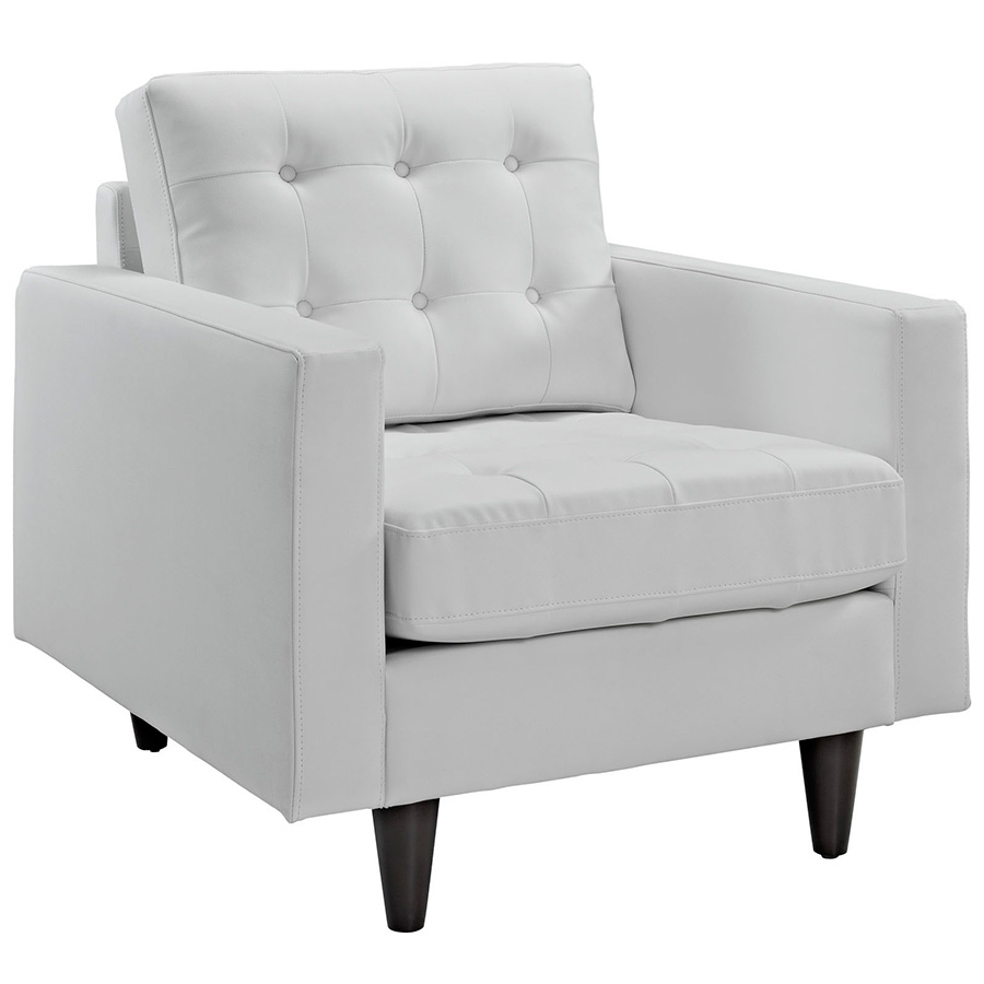 Modern chairs enfield white leather chair eurway for Modern sofa chair