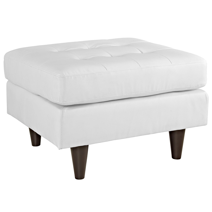 Enfield Modern White Leather Ottoman Eurway Modern