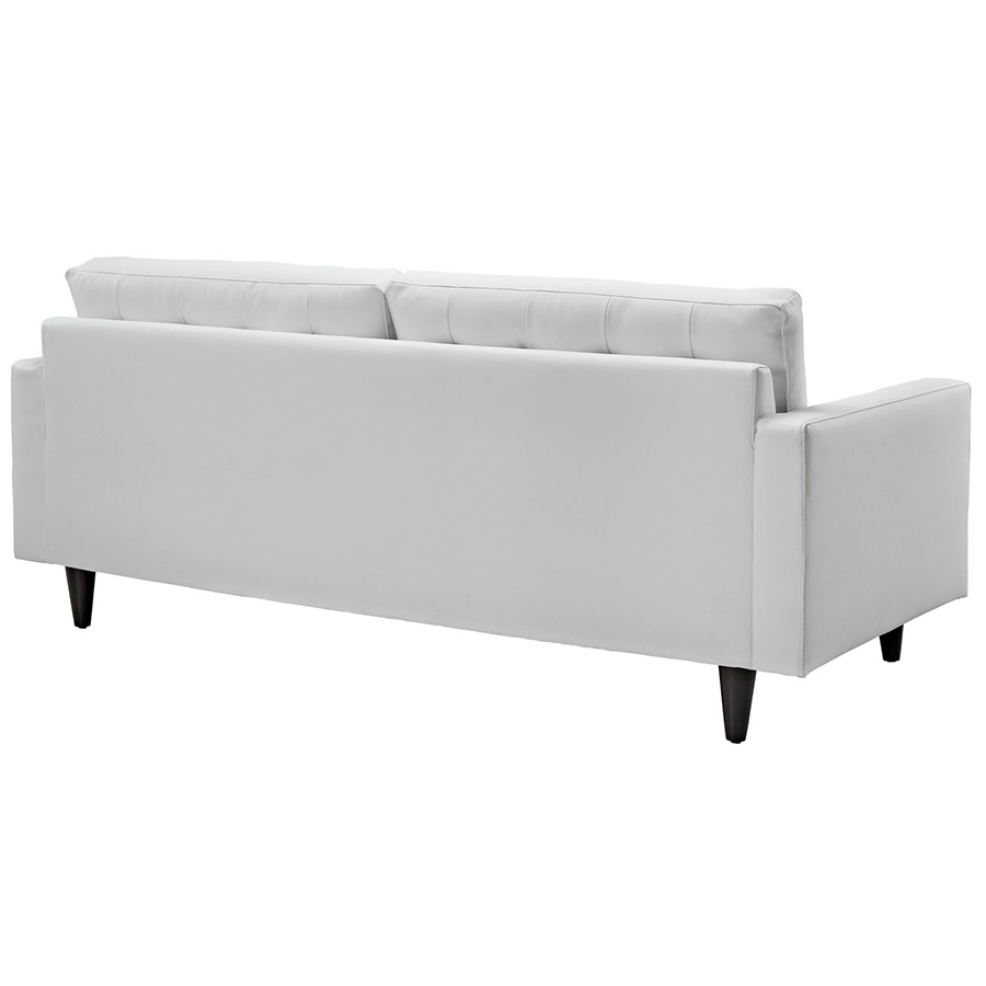 Modern white sofa elegant white contemporary sofa 59 on for White divan chair