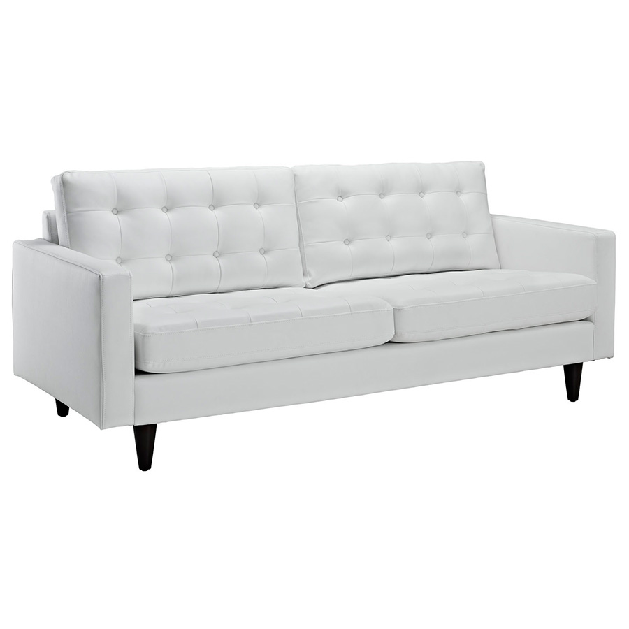 Enfield modern white leather sofa eurway furniture for White divan chair
