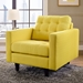 Enfield Yellow Contemporary Lounge Chair