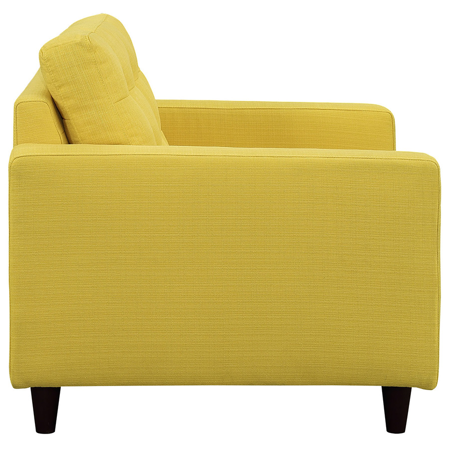 Attrayant ... Enfield Yellow Modern Lounge Chair   Side View ...