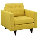 Enfield Yellow Modern Lounge Chair