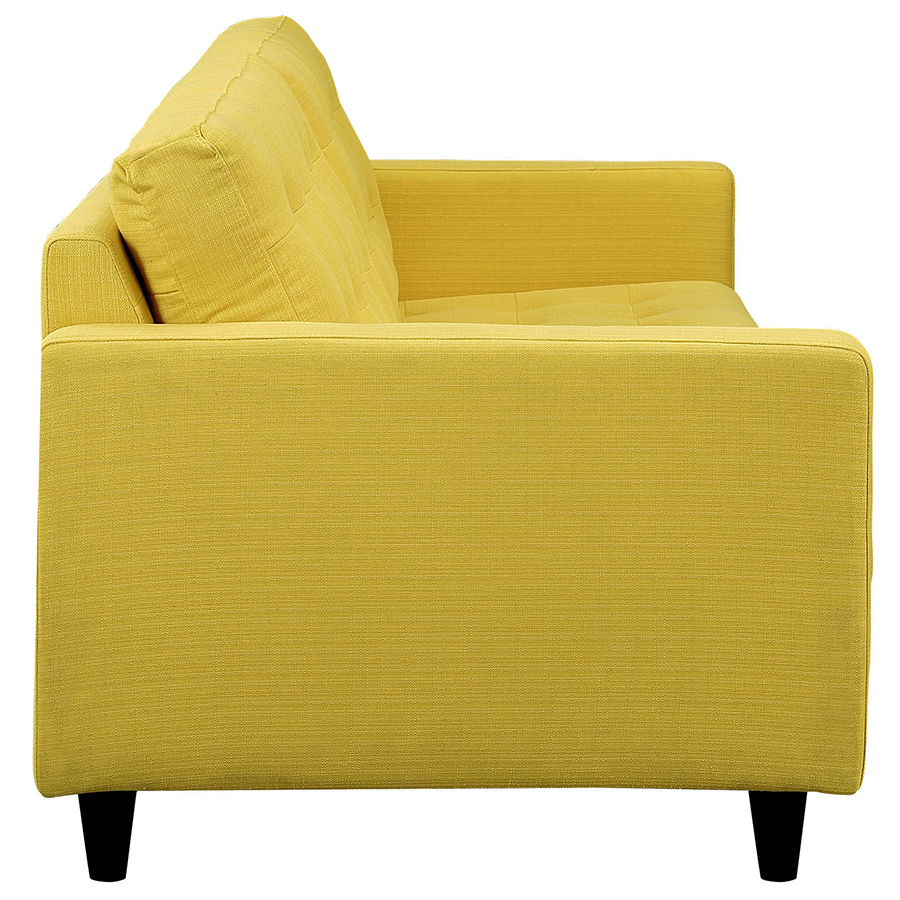 Enfield Modern White Leather Sofa: Enfield Yellow Sofa