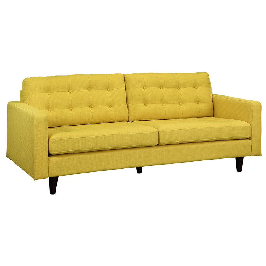 Yellow Leather Sectional Sofa: Enfield Yellow Sofa