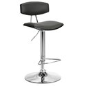 Engage Modern Gray + Black Adjustable Stool