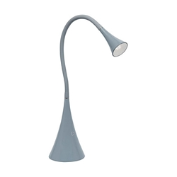 Enge Modern Grey LED Desk Lamp with USB Port