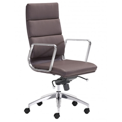 Engineer Modern Espresso High Back Office Chair by Zuo