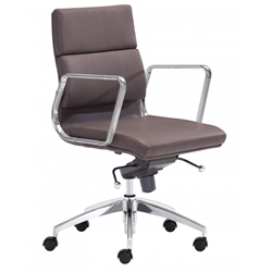 Engineer Modern Espresso Low Back Office Chair by Zuo