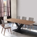 England Contemporary Walnut + Black Dining Table