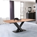 England Modern 87 in. Walnut + Black Dining Table