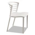 Enigma Modern Gray Outdoor Dining Chair