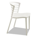 Enigma Modern White Outdoor Dining Chair