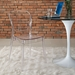 Entice Modern Clear Dining Side Chair
