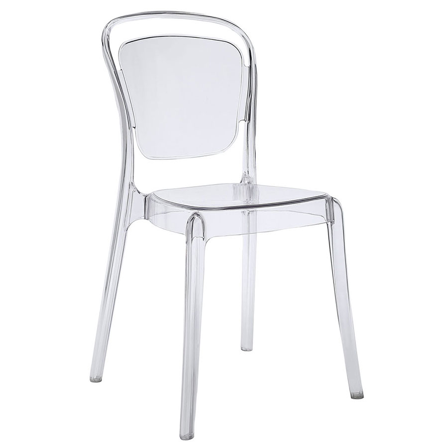 modern dining chairs  entice clear side chair  eurway - entice modern clear dining chair