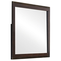 Entice Modern Wall Mirror in Rustic Tobacco