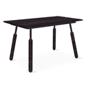 "Gus* Modern Envoy 50"" Black Ash + Black Ash and Black Steel Dowel Legs Contemporary Desk"