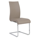 Eldad Taupe Modern Side Chair