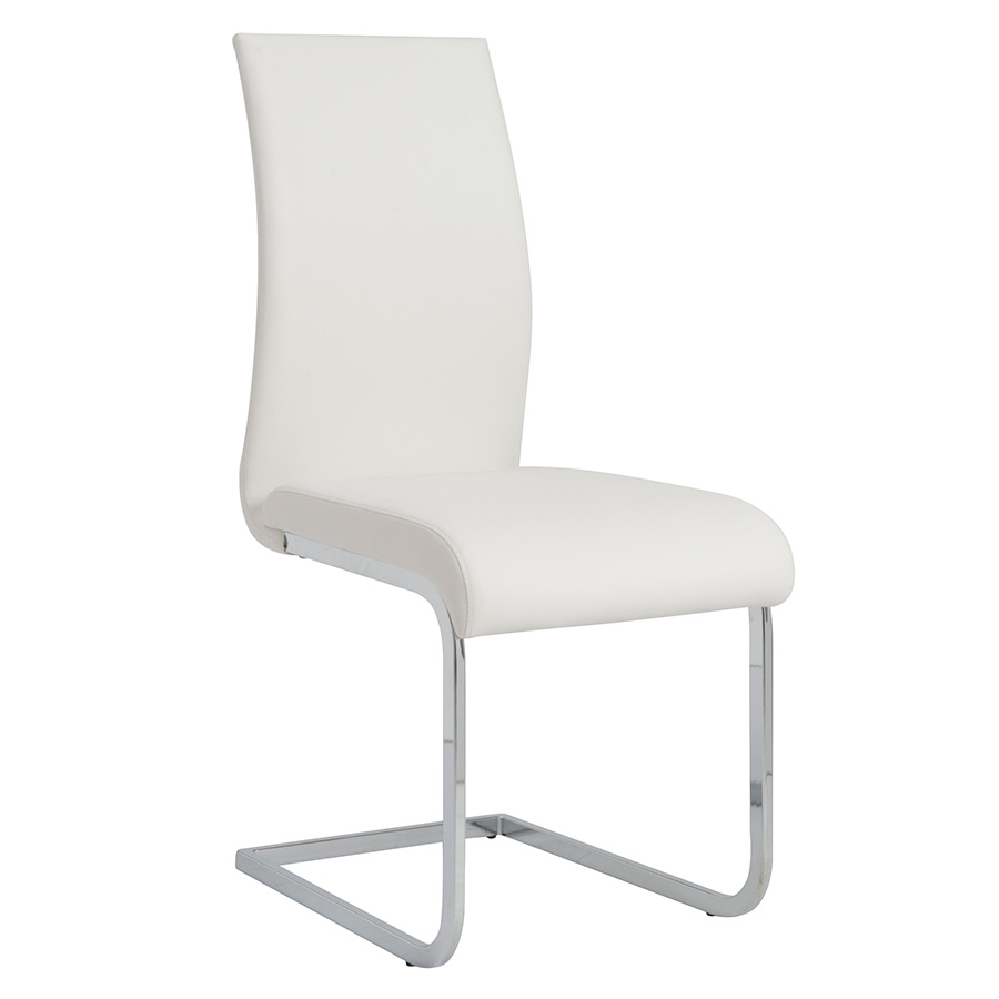 Eldad White Modern Side Chair