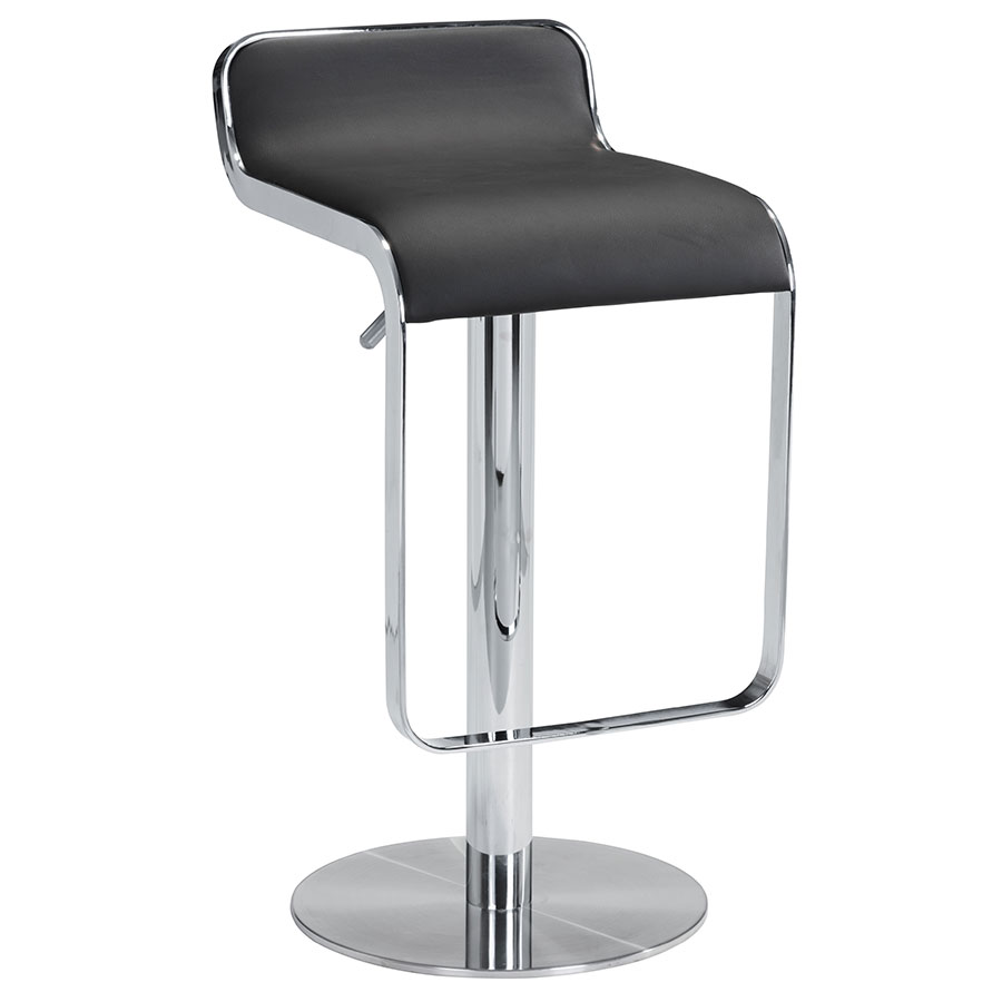 equino black adjustable bar stool