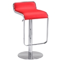 Equino Red Adjustable Contemporary Bar Stool