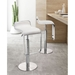 Equino Contemporary White Adjustable Stool