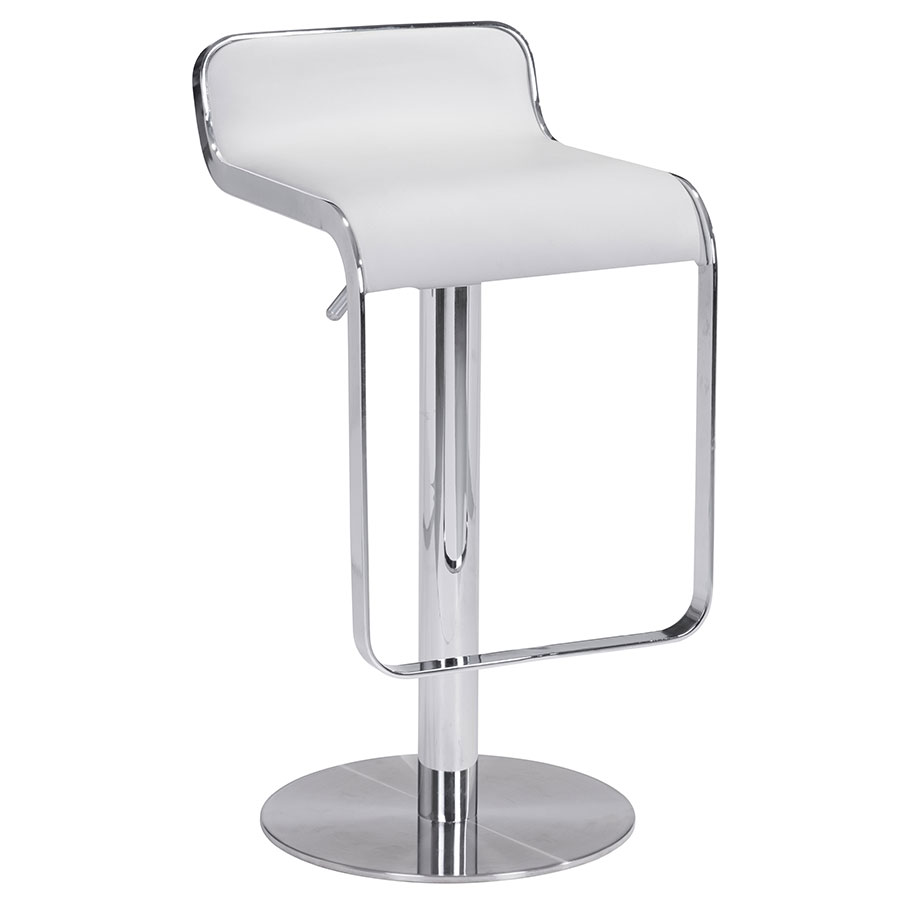 Call To Order · Eclipse White Adjustable Contemporary Bar Stool