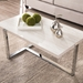 Equinox Contemporary Faux Stone Coffee Table