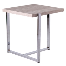 Equinox Modern Faux Stone Side Table