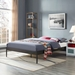 Eric Brown Metal Upholstered Modern Platform Bed Frame